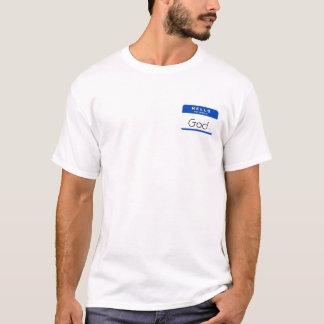 Camiseta Olá! meu nome é deus