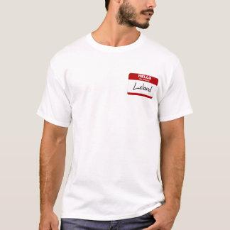 Camiseta Olá! meu nome é Leland (vermelho)