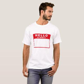 Camiseta Olá!, meu nome é (o vermelho)