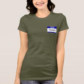 Camiseta Olá! meu nome é Rashida (azul)
