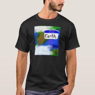 Camiseta Olá!, meu nome é t-shirt ambiental da terra