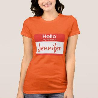 Camiseta Olá! meu nome é Tshirt do nome de etiqueta
