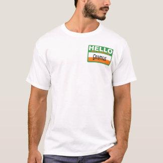 Camiseta Olá! meu nome irlandês é Seamus