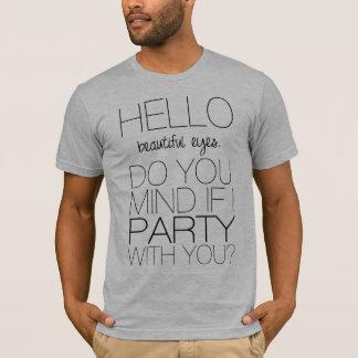 Camiseta Olá!, olhos bonitos