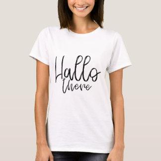 Camiseta Olá! palavras lá de fala