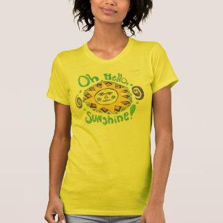 """Camiseta """"Olá!, t-shirt da luz do sol"""""""