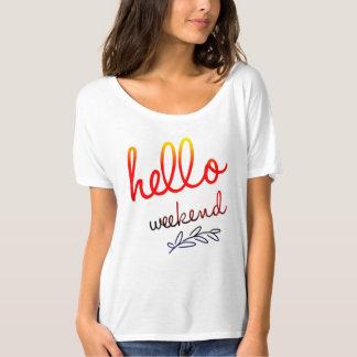 Camiseta Olá! t-shirt Slouchy do namorado das canvas do fim