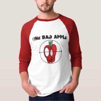 Camiseta Oldschool de OBA 3/4 de alvo vermelho do crânio da