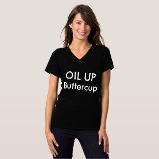 Camiseta ÓLEO ACIMA do botão de ouro