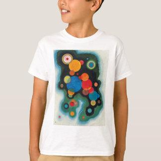 Camiseta Óleo aprofundado do abstrato do impulso em canvas