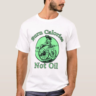 Camiseta Óleo das calorias da queimadura não