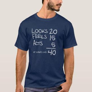 Camiseta Olha, sente, actua T de 40 aniversários