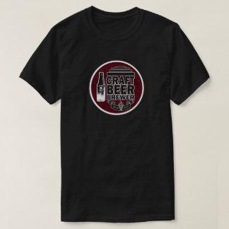 Camiseta Olhar de madeira da grão do cervejeiro da cerveja