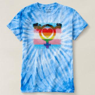 Camiseta Olhar destruído símbolo do orgulho do transporte