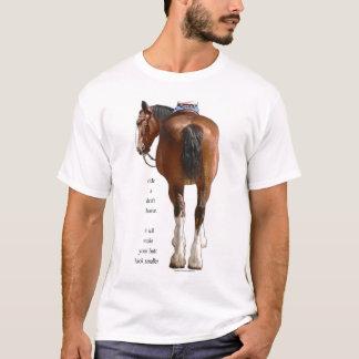 Camiseta Olhar do bumbum de Clydesdale pequeno