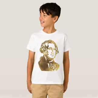 Camiseta Olhar do ouro do retrato de George Washington