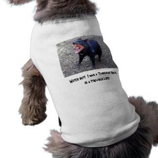 Camiseta Olhe para fora!  Eu era um diabo tasmaniano