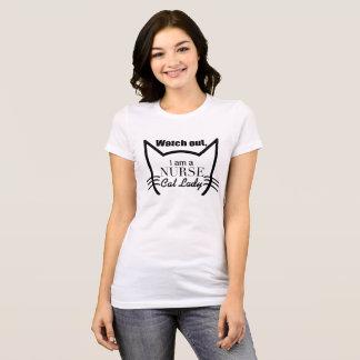 Camiseta Olhe para fora, mim são uma senhora do gato da