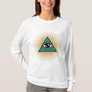 Camiseta Olho de deus, pirâmide, Todo olho/visto