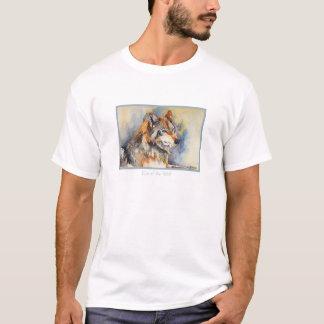 Camiseta Olho do t-shirt da aguarela do lobo