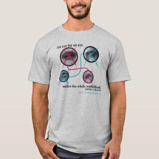 Camiseta Olho para um olho T cinzento
