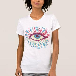 Camiseta Olho psicadélico azul estranho
