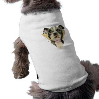 Camiseta Olhos 3 do filhote de cachorro