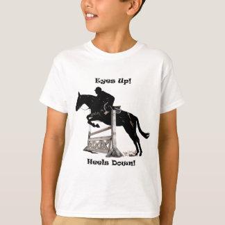 Camiseta Olhos acima! Saltos para baixo! Cavalo