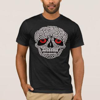 Camiseta Olhos CELTAS do vermelho do CRÂNIO