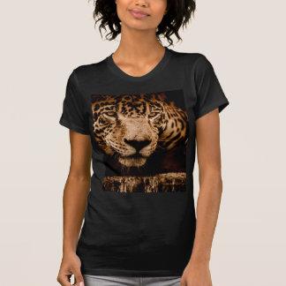 Camiseta olhos de desengaço da água do jaguar