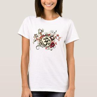 Camiseta OM floral budista