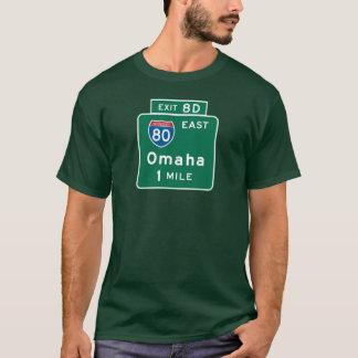 Camiseta Omaha, sinal de estrada do NE