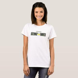 Camiseta OMG, gato e peixes
