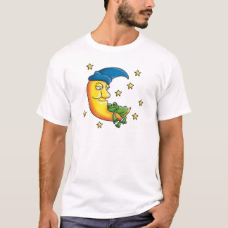 Camiseta on little the comic frog sleeping moon