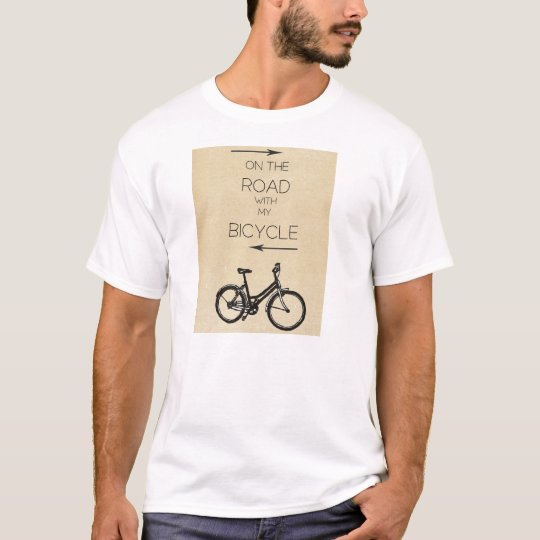 Camiseta On the Road with my bicycle