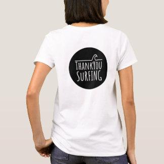 Camiseta Onda empilhada T para mulheres