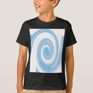 Camiseta Onda espiral gráfica azul e branca de Digitas