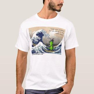 Camiseta Onda grande, gafanhoto pequeno