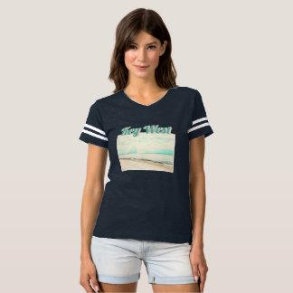 Camiseta Ondas, areia, e céu na praia de Higgs em Key West