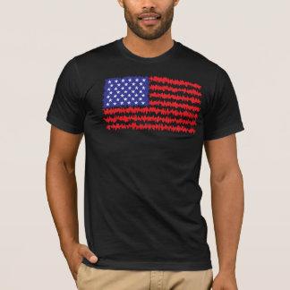 Camiseta Ondas da bandeira americana