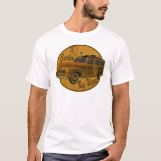 Camiseta ondas grandes do catchin no woodie