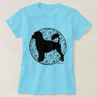 Camiseta Ondas portuguesas do leão do cão de água