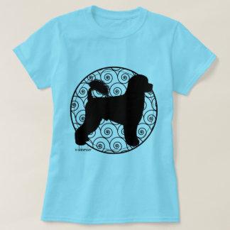 Camiseta Ondas portuguesas do Retriever do cão de água