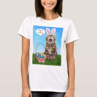 Camiseta Onde está meu chocolate? T-shirt da páscoa