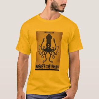 Camiseta Onde está o calamar?