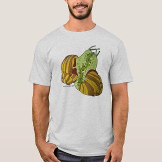 Camiseta onde faça os caracóis vêm de