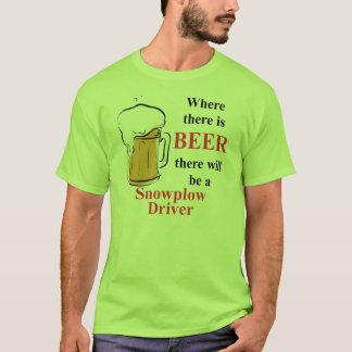 Camiseta Onde há cerveja - motorista do Snowplow