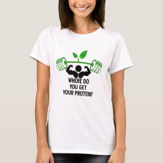 Camiseta Onde você obtem sua proteína