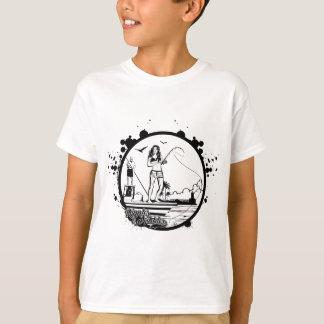 Camiseta Ondinhas & mordidelas que pescam o logotipo do