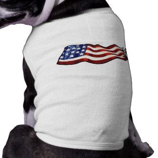 Camiseta Ondulação da bandeira americana patriótica